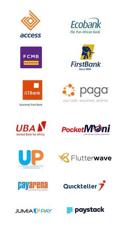 Smile Recharge Payment Partner logos